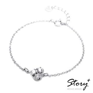 【STORY ACCESSORY】明亮的心-純銀手鍊(白K金+白鑽)