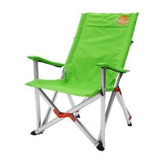 【Outdoorbase】高原-高背豪華休閒椅 草地綠(大川椅 巨川椅 鋁合金椅)