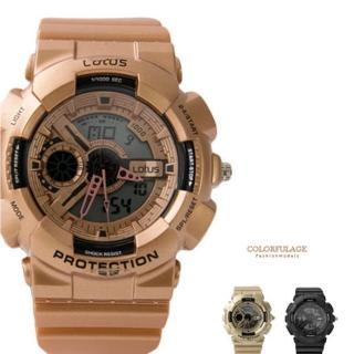 多功能休閒運動風雙顯電子手錶 潮流時尚設計款 防水30米