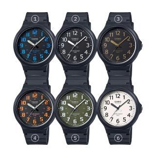 【CASIO 卡西歐】大鏡面4.3公分學生錶_業務_中性錶_男錶_女錶(MW-240)