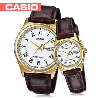 【CASIO 卡西歐】送禮首選-甜蜜浪漫情人對錶(MTP-V006GL+LTP-V006GL)