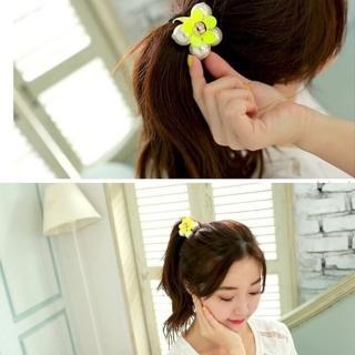 【梨花HaNA】韓國綻開糖果色小花朵髮圈