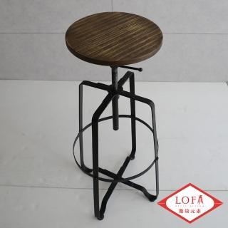 【微量元素】手感工業風美式吧台椅