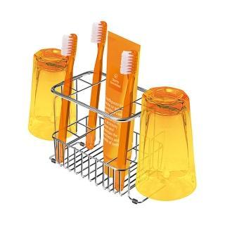 【日本ASVEL】不鏽鋼牙刷架(可放2杯6牙刷)