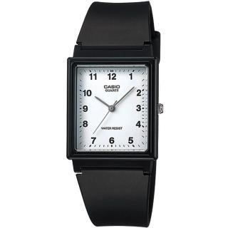 【CASIO 卡西歐】時尚簡約方形指針錶(MQ-27-7BDF)