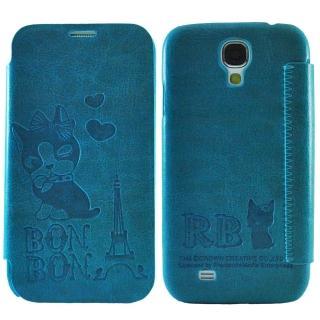 【Aztec】瑞貝卡 Samsung S4 側掀式皮套(鐵塔藍)