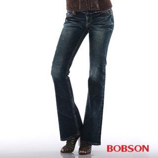 【BOBSON】女款亮片刺繡小喇叭(9089-52)