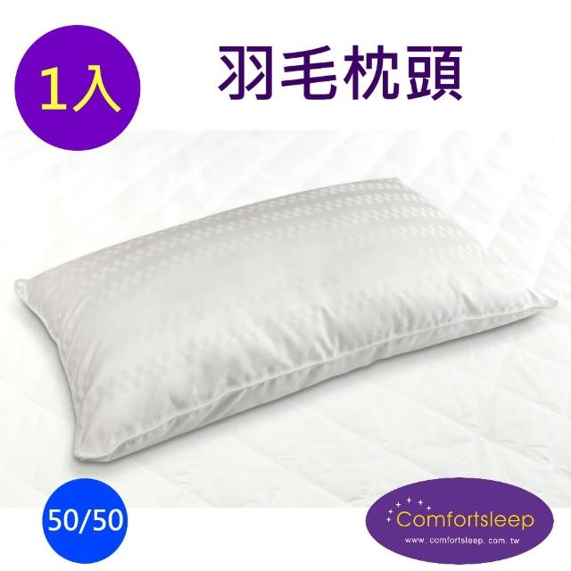 【Comfortsleep】優質舒適羽毛枕頭一入(送枕頭保潔墊)