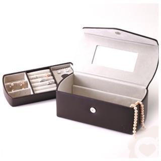 【Aguchi 亞古奇】英倫情人-貴族棕 珠寶盒(氣質貴族系列)