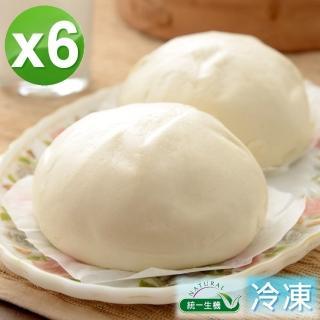 【統一生機】老麵原白饅頭6件組(400g/包/共6包)