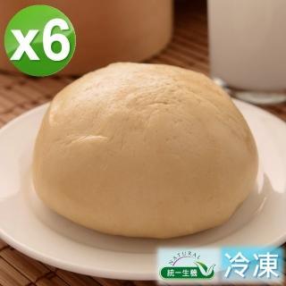 【統一生機】老麵黑糖饅頭6件組(400g/包/共6包)