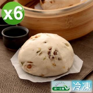 【統一生機】老麵雜糧饅頭6件組(400g/包/共6包)