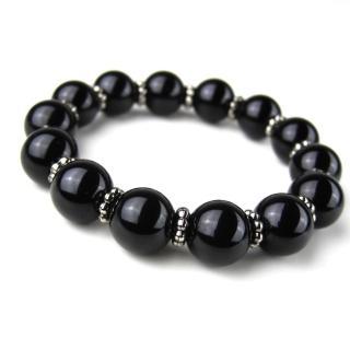 【ZenKi原氣晶品】12mm男版天然黑碧璽純銀串珠手環