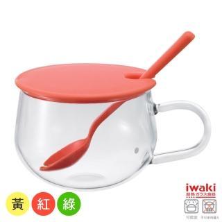 【iwaki】玻璃微波調理杯300ml(紅/黃/綠)