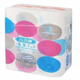 【百吉牌溫柔平版衛生紙300張*6包】