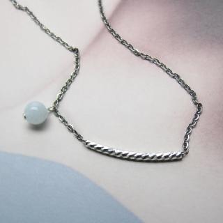 【ZenKi原氣晶品】海藍寶純銀波紋項鍊