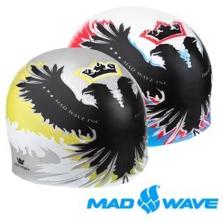 【俄羅斯MADWAVE】競技 成人 飆速 泳帽(戰鬥民族風格蒼鷹款泳帽)