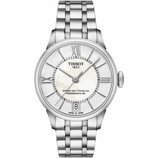 【TISSOT】杜魯爾系列機械動力80腕錶-珍珠貝/32mm(T0992071111800)