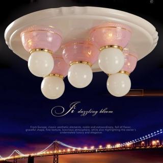 【光的魔法師 Magic Light】安卡拉吸頂五燈 -- 粉紅色 可使用LED燈泡(光源請另選購)