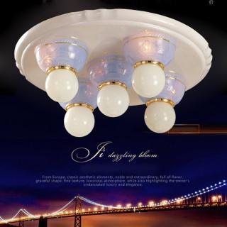 【光的魔法師 Magic Light】安卡拉吸頂五燈 -- 粉藍色 可使用LED燈泡(光源請另選購)