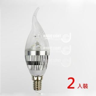 【光的魔法師 Magic Light】LED蠟燭燈泡 LED拉尾燈泡 5W(兩入裝)