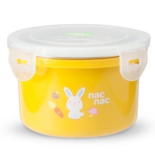 【nac nac】不銹鋼密封兩用隔熱圓型餐盒