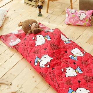 【HO KANG】三麗鷗授權 冬夏鋪棉兩用兒童睡袋 加大款(我是kitty)