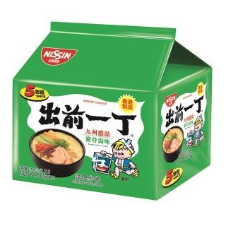 【日清】出前一丁九州濃湯豬骨湯味速食麵100gX5入(泡麵)