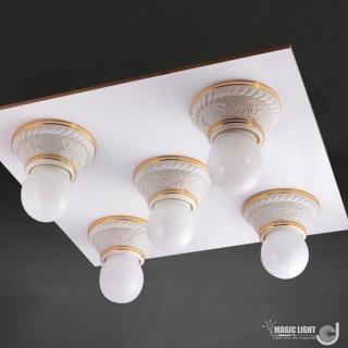 【光的魔法師 Magic Light】美術型輕鋼架燈具 玫瑰花輕鋼架五燈