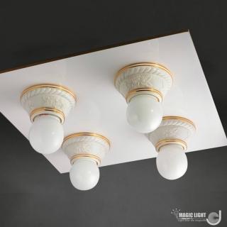 【光的魔法師 Magic Light】美術型輕鋼架燈具 玫瑰花輕鋼架四燈