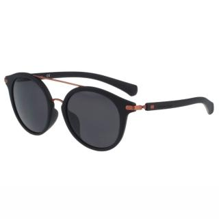 【Calvin Klein】- 時尚復古造型太陽眼鏡(黑色)