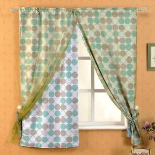 【芸佳】和風綠園遮光窗簾(140*160cm)