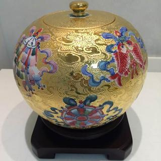林春香大師-吉祥八寶雕金聚寶盆