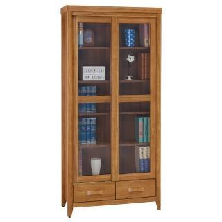 【顛覆設計】絲莉愛3尺柚木實木推門下抽書櫃