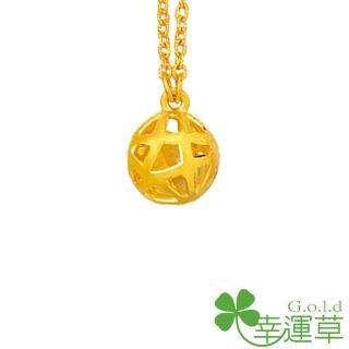 【幸運草clover gold】吸引力 黃金 鎖骨鍊墜