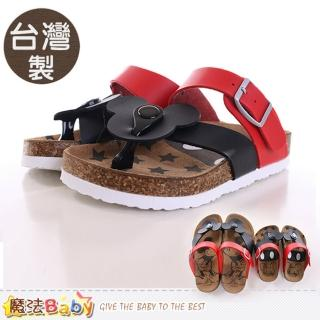 【魔法Baby】女童涼鞋 台灣製米奇正版親子鞋款兒童款(sh9616)