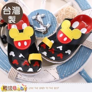 【魔法Baby】童鞋 台灣製專櫃款迪士尼米奇涼拖鞋(sh9632)