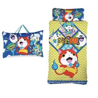 【妖怪手錶】吉胖喵二用手提兒童睡袋(武士慶典)