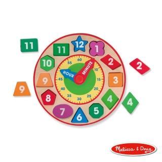 【美國瑪莉莎 Melissa & Doug】形狀積木時鐘