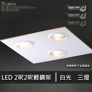 【光的魔法師 Magic Light】LED輕鋼架 2呎2呎 三燈(27瓦)