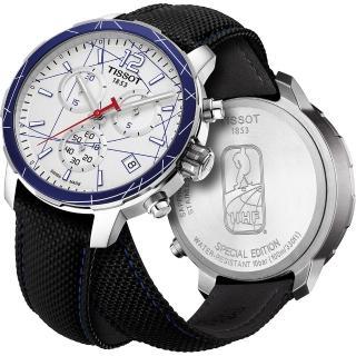 【TISSOT】QUICKSTER 冰球特別版腕錶-銀/42mm(T0954171703700)