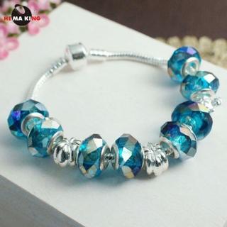 【HEMAKING】七彩綺麗潘朵拉手環/手鍊-海軍藍(串珠與墜子可與潘朵拉 pandora 共用)