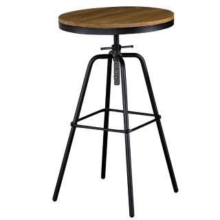 【AT HOME】泰勒1.8尺圓形原木升降吧台桌