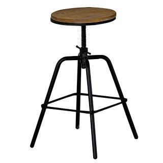 【AT HOME】泰勒原木升降吧台椅