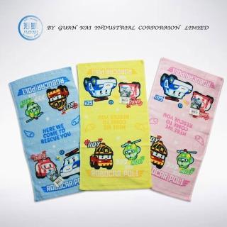 【波利救援小英雄】可愛圖騰萬用童巾6入28cm*51cm(藍、黃、粉)