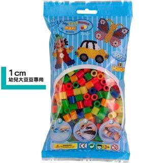 【Hama幼兒大豆豆】500顆大拼豆袋裝補充包(51霓虹色)