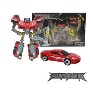 【酷博士】合金鋼鐵汽車變形機器人(大)(25紅跑車)