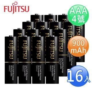 【FUJITSU富士通】低自放900mAh充電電池組(4號16入)