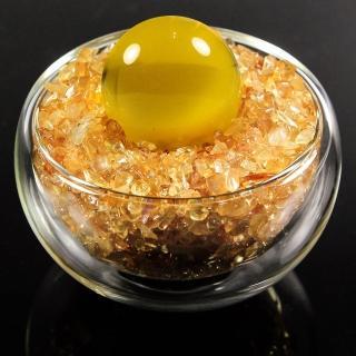 【A1寶石】本頂級天然黃水晶/貓眼琉璃聚寶盆-招財轉運居家風水必備(含開光加持)