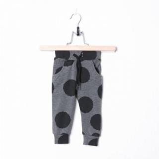 【荷蘭 Lucky No.7】腰抽繩束口長褲 - 灰色大點點(ZAL700D7)